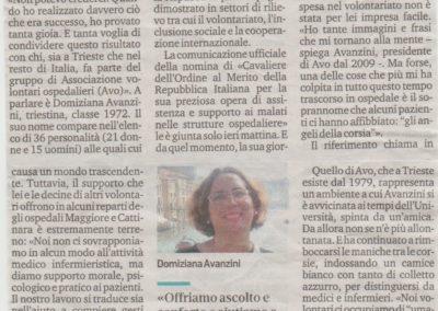 Domiziana Avanzini nominata Cavaliere dal Presidente della Repubblica
