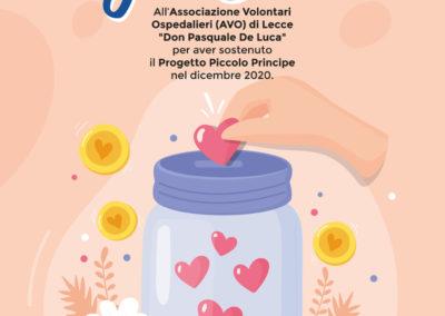 AVO Lecce: la Generosità è un Dono