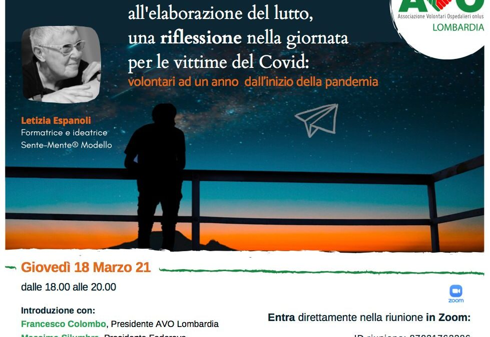 Webinar AVO Lombardia – Giovedì 18 marzo 2021
